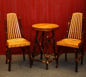 24in Bar Table and Bar Chairs