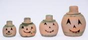Aged Round Jack-O-Lanterns