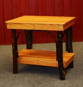 End Table with Shelf (Square)